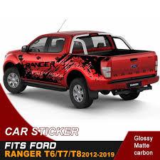 Car Accessories 2 Pcs Mudslinger Side Door Stripe Graphic Vinyl 4x4 Off Road Car Sticker Suitable For Ford Ranger T6 T7 T8 2012 2019 Wish