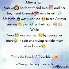 after a fight ameya👩 her quotes writings by swar sonawane