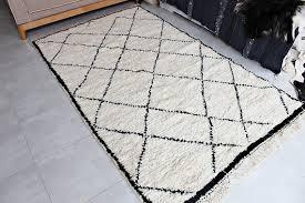 authentic moroccan rug cream black