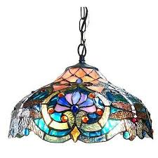 tiffany style pendant ceiling lamp blue