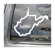Right Now Decals West Virginia State Home Outline Wv Charleston Usa America Cars Trucks Moped Helmet Hard Hat Auto Automotive Craft Laptop Vinyl Decal Store Window Wall Sticker 07019 Wantitall