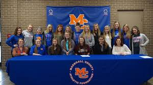 Marshall County's Addie Young inks with Lady Tiger softball for ...