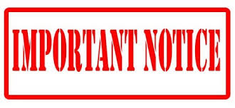 Image result for important notice clipart