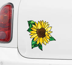 The Decal Store Com By Yadda Yadda Design Co Clr Car Sunflower D2 Stained Glass Style Vinyl Decal For Car T