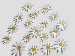 Amazon Com Cute Daisy Stickers 18 Handmade Paper Flower Wall Decals 2 3 Inch Daisies To Decorate With Planner Or Journal Stickers Handmade