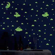 Big Offer A6ea 3pcs Set Cartoon Mouse Cat Luminous Wall Sticker Stars Moon Bedroom Home Decoration Mural Kids Room Glow In The Dark Stickers Kr Vitavaror Se