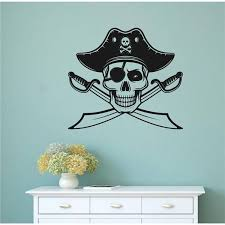 Breakwater Bay Pirate Skull Jolly Roger Vinyl Wall Decal Wayfair