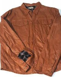 brown faux leather jacket mens xl