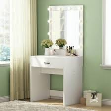 drawer 10lights mirror vanity white