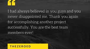 best appreciation messages to team thezeroed