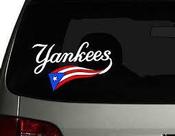 Puerto Rico Vinyl Car Decal Sticker 8 W Puerto Rican Flag New York Yankees Ebay
