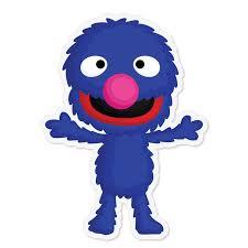 Sesame Street Grover Vinyl Stickers Vmc Communications