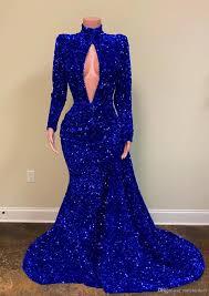 2020 royal blue evening dresses luxury