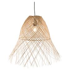 coco wicker weave pendant light