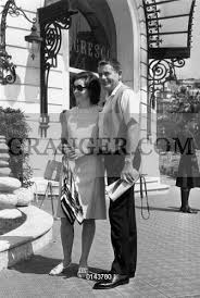 Image of GLENN FORD. - Glenn Ford And His 2nd Wife Kathryn Hayes During  Their Honeymoon In Nice (french Riviera) May 5, 1966. Full Credit: AGIP -  Rue Des Archives / Granger,