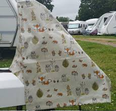woodland patterned caravan hitch cover
