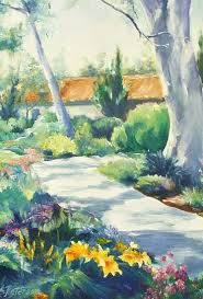 Rancho Santa Fe Art Guild - Work Detail: Path to the Library by Adela  Peterson