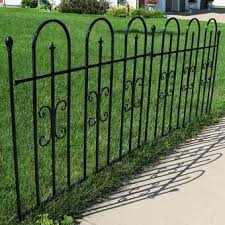 2 5 Ft H X 4 7 Ft W Madison No Dig Garden Fence Panel In 2020 Garden Fence Panels Metal Fence Panels Metal Fence