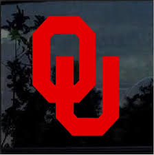 University Of Oklahoma Sooners Ou Window Decal Sticker Custom Sticker Shop
