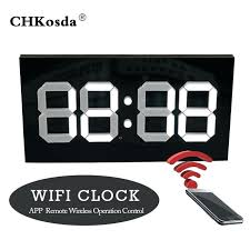 Plastic Digital Radio Controlled Wall Clock Wifi Kids Rooms To Go Davidlynch Co