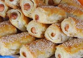 sausage rolls with homemade puff pastry