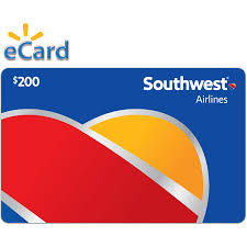 southwest airlines 200 gift card