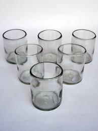 clear blown glass tumblers 6 pcs