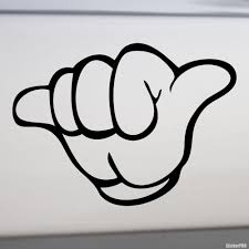 Decal Hangloose Hand Gesture Shaka Sign Buy Vinyl Decals For Car Or Interior Decal Factory Stickerpro Different Colors And Sizes Is Avalable Free World Wide Delivery