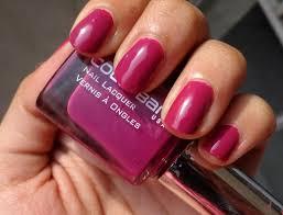 colorbar plum grenadine nail lacquer