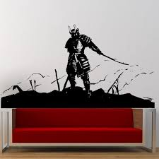 Kendo Wall Sticker Japanese Ninja Poster Vinyl Art Wall Decals Home Decoration Decor Mural Kendo Samurai Decal Sticker Mural Hello Kitty Sticker Treesticker Murals Aliexpress