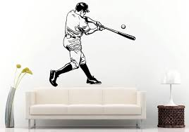 Free Shipping Sport Wall Decal Baseball Player With Baseball Bat Wall Sticker Mural Home Boys Bedroom Decorative Vinyl Muralq 56 Sports Wall Decals Decorative Vinylbedroom Decor Aliexpress