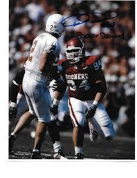 1) Dusty DVoracek Oklahoma Sooners signed autographed