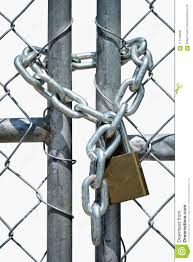 Gate Locked With Chain And Padlock Stock Photo Image Of Wire Chainlink 117745830