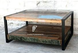 coffee table reclaimed wood vidaxl