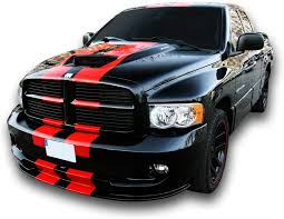Amazon Com Decal Sticker Graphic Front To Back Stripe Kit Compatible With Dodge Ram 1500 2500 3500 Arts Crafts Sewing