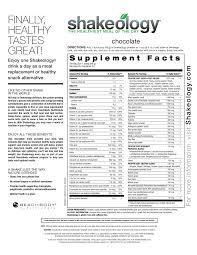 shakeology nutrition shakeology