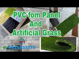pvc fom panels and artificial grass
