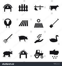16 Vector Icon Set Barn Fence Stock Vector Royalty Free 742445659