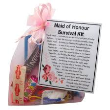 maid of honour survival kit gift a
