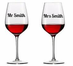ad mrs vinyl decal wine glass stickers