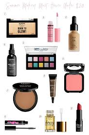 summer makeup must haves under 20