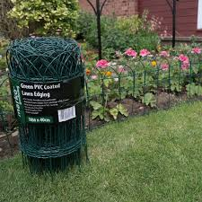 Garden Border Fence Green Pvc Coated Lawn Edging Wire Mesh Edge Fencing 2 Sizes Ebay