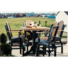 table with 4 swivel adirondack chairs