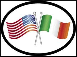 Crossed American And Irish Flags Decal The Irish Gift House