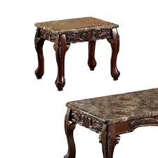 benjara brown wooden coffee table and