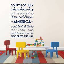 Let Freedom Ring Quote Patriotic Decal Usa Vinyl Decor Wall Decal Customvinyldecor Com