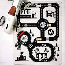 Extpro Children Area Rug Baby Floor Racing Game Rug Foldable Crawling Game Play Mat For Kids Room Decor Road2 Artaithrofith