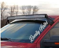 Locally Hated Side Windshield Banner Decal Sticker Custom Sticker Shop
