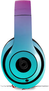 Amazon Com Skin Decal Wrap Works With Beats Studio 2 And 3 Wired And Wireless Headphones Smooth Fades Neon Teal Hot Pink Skin Only Headphones Not Included Home Audio Theater