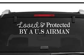 Air Force Decal Support Air Force Decal Air Force Car Etsy
